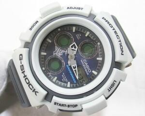 ■カシオ G-SHOCK■新品同様■Men in White Gray ガウスマン AW-571LG-8AJR■メンズ腕時計