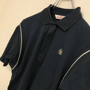 (A134) MUNSING WEAR マンシングウェア ペンギン TOMORROWLAND 半袖ポロシャツ 黒 サイズ3 日本製 デサント