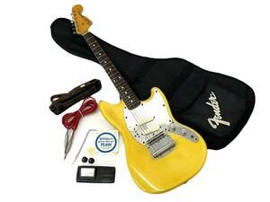 FENDER/フェンダー MUSTANG ムスタング マスタング エレキギター イエロー ソフトケース他付 日本製 ヴィンテージ ジャンク品 (20946nu1)
