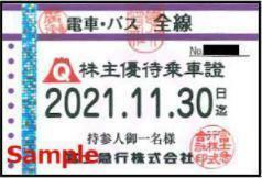 一部送料込◆富士急行◆株主優待乗車証 電車バス全線 定期型R-C