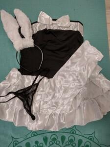 コスプレ仮装衣装 4点セット メイド服