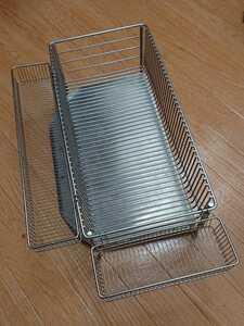 ラバーゼ labase ステンレス水切りかごスリム(縦置きタイプ)3点セット 有元葉子 日本製 おまけ付き