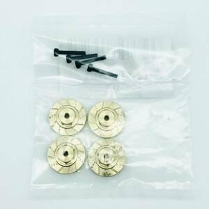 新品未開封 ミニッツ 4x4 真鍮 六角7mm 変換ハブ 4×4