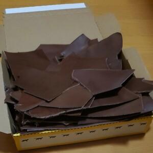 栃木レザー ヌメ革 チョコ ハギレ レザークラフト ハンドメイド材料 タグ