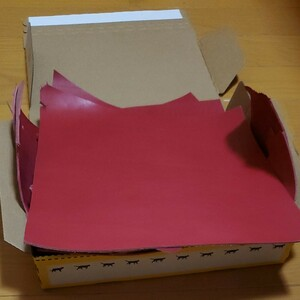 姫路レザー ヌメ革 ピンク ハギレ レザークラフト ハンドメイド材料 タグ
