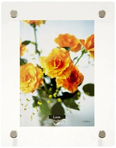 ○特価○クリア 写真サイズ:L判 NAKABAYASHI アクリル製 ピクチャーフレーム スタンドタイプ L判用 フ-ACS-L