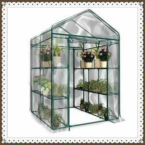 お買い得満載《送料無料》 ガーデンハウスカバー PVCビニール温室3段 特大「フラワースタンド・ガーデンラック・家庭菜園・温室」大型温室