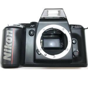 並品 Nikon ニコン フィルムカメラ F-401X AF オートフォーカス 露出計 シャッター 確認済み