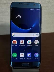 657  docomo SC-02H SAMSUNG Galaxy S7 edge SIMフリー 32GB /4GB Blue 本体のみ 【Samsung・中古品・ジャンク】