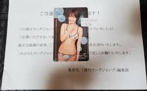 2011年 ヤングジャンプ 抽プレ テレカ 夏菜 通知書あり