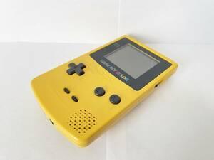 【送料無料】ゲームボーイカラー (イエロー) 本体のみ CGB-001,動作確認済,ケース分解清掃済/任天堂,Nintendo,GBC