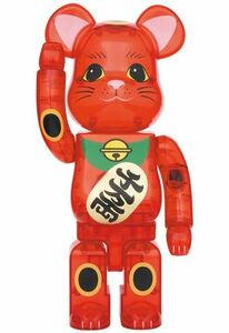 MEDICOM TOY BE@RBRICK BERABRICK 招き猫 梅 透明 千万両 400% メディコムトイ ベアブリック Lucky Cat 新品、未開封 即日発送