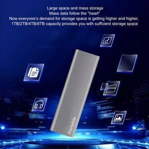 送無) 8TB 外付け SSD ソリッド ステート ドライブ ハイスピード USB 3.1 for ノートパソコン デスクトップ PC スマートフォン