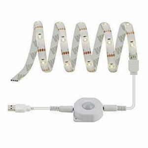 新品100cmセンサー電球色 DANCRA 人感センサー LEDテープライト 間接照明 電球色 USB 1M 室内 J8EY