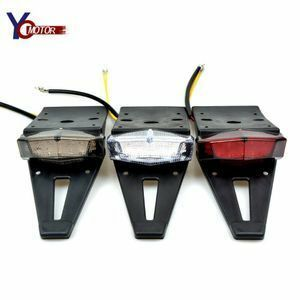 新品 LED 色高輝度バイクラン 【SALE】汎用エン テールライトブレーキランプリアフェンダーナンバープレートブラUI23