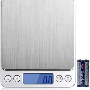デジタルスケール 電池付き 3000g 0.1g 計り キッチン 電子秤 クッキングスケール 計量器 デジタル はかり 計り デジタル 安い