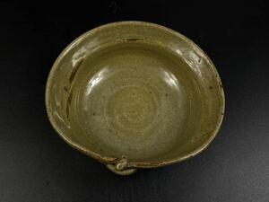 【朝】古唐津 斑唐津 小皿 在銘 晃 時代美品 径14cm