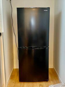 【アイリスオーヤマ】2020年製 小型 家庭用 冷蔵庫 142L 2ドア 冷凍冷蔵庫 ブラック