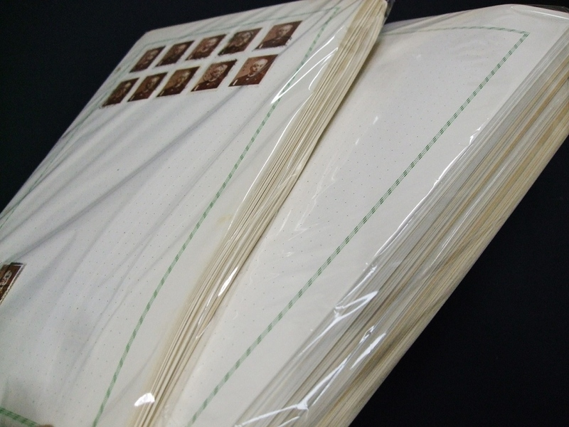 日本記念中心済コメット等台紙貼込リーフ約311枚ほど大量一括。バインダーなし
