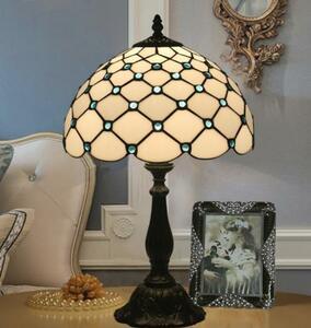 ◆上品◆ステンドランプ ステンドグラス アンティーク レトロな雰囲気がおしゃれ ティファニー 美品ランプ 照明