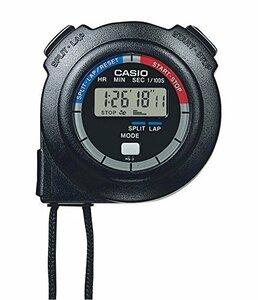 限定価格!ブラック CASIO(カシオ) ストップウォッチ ラップタイム スプリット 計測 消音 ブラック HS-3C-8B59A