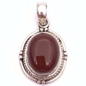 天然石レッドアゲート(赤メノウ)silver925トップ-SLT2