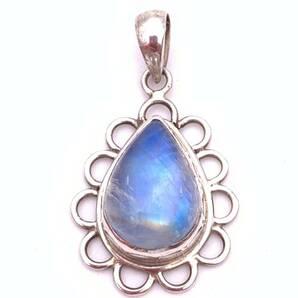 天然石ムーンストーン(月長石)silver925トップ-011