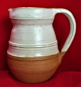 陶器 ジャグ ピッチャー 水差し 花瓶 クラシックタイプ 高さ15㎝ 900cc ロクロ引き 送料込み