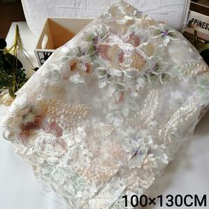 ハンドメイド レース 刺繍生地 刺繍レース 布マスク 手作りマスク材料 トーションレース 花柄レース レース生地 人形 ドレス