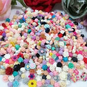 デコパーツ ビーズ パーツ 材料 ハンドメイド ネイルアート バラ 薔薇 レジン 安い 大量 かわいい 手芸材料 造花 手芸 可愛い ネイル