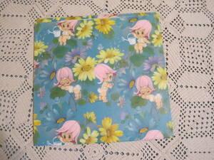 USA ヴィンテージ 包装紙 ラッピングペーパー 子供 赤ちゃん BABY  バイビー お花 テントウムシ 未使用