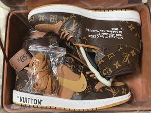 Louis Vuitton x AIR JORDAN 1 27 エアージョーダン ルイヴィトン AJ1 off-white THE TEN CEEZEカスタム