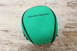 ☆PEARLY GATES/パーリーゲイツ ラウンド型ポーチ 緑 GOLF ゴルフ ボール 中古☆