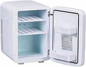 ホワイト 13L オーム電機 保冷保温ボックス 13L 小型冷蔵庫 車載両用 1ドア 右開き ポータブル電子式 ミニ 冷温庫 保