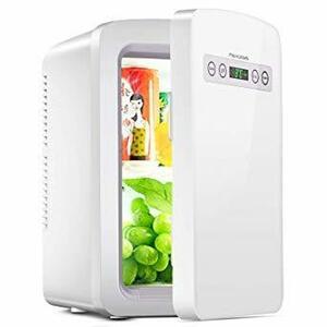 白 Paxcess 冷蔵庫 小型 -9°C~60°C 10L冷温庫 温度調節 静音 省エネLCD温度表示 人暮らし 家庭用 車載