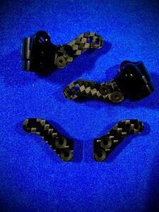 XRAY T4パーツ ステアリングブロック カーボンプレート 特注4㎜ 強化タイプ パーツ補給 日本製 蕨山Carbon