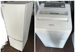 TOSHIBA2ドア171L冷蔵庫2018年製&Panasonic7キロ洗濯機 2016年製 容量大きめ2点セット 家電2点