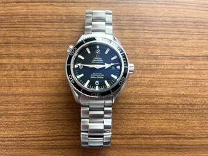 1円~ オメガ OMEGA シーマスター プラネットオーシャン 600M メンズ腕時計 22015000 自動巻 ブラック文字盤 ケース箱付TUDOR