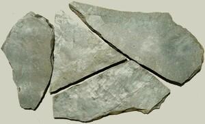 【 天然石 】 青鉄平石 《 乱形 》 [ケース販売 0.5㎡入]