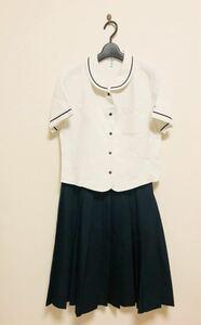 コスプレ衣装 チェックスカート 熊本 大きいsize 半袖ブラウス 上下セット 春夏 夏服 半袖 M〜L 9号〜11号