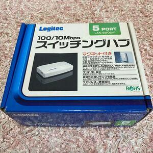 Logitec 5ポートスイッチングハブ+LANケーブル2本