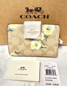 新品 COACH コーチ 二つ折り財布
