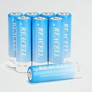 新品 未使用 単3形充電池 REACELL H-7M 約1200回繰り返す使用可能 単三充電池 充電式ニッケル水素電池 単3 高容量 2800mAh 8本入れ