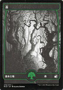 MTG 森 基本土地 マジック:ザ・ギャザリング イニストラード:真夜中の狩り MID-276   日本語版 基本土地 基本土地