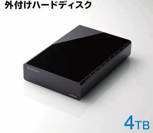 エレコム 4TB 3.5インチHDD TV向け外付けハードディスク ELD-FTV040UBK