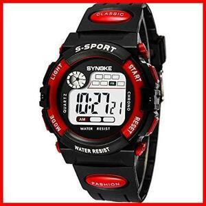新品子供腕時計防水 デジタル表示 ledライト付き アラーム ストップウォッチ機能 12/24時刻切替え多機能スポーBXJK