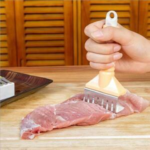 肉筋切り器 ミートテンダライザー ステンレス刃 ブラウン 1点