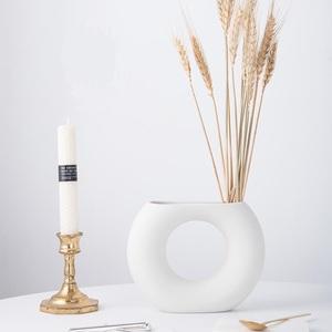 ドーナツ型 花瓶 人気 インテリア 雑貨 北欧 オブジェ 陶器 フラワーベース