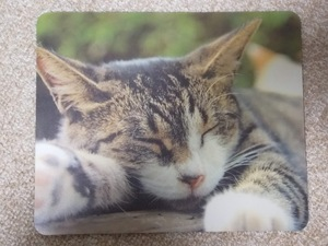 ★すぐに発送します!★【かわいい ねこ マウスパッド 18×22㎝】猫 ネコ