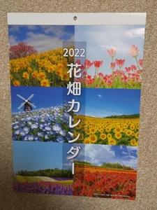 大判サイズ 42×30㎝【A3サイズ 花畑 壁掛けカレンダー 2022年 暦 日本製】フラワー 花 はな こよみ ★すぐに発送します★